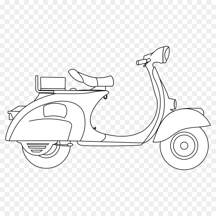 Book black and white. Scooter clipart scooter line