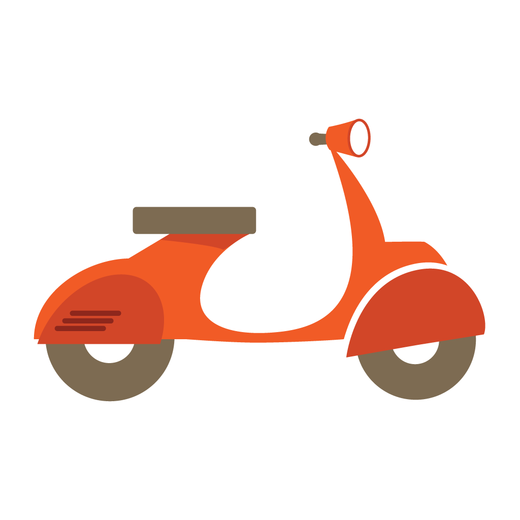 Android app market for. Scooter clipart scooter line