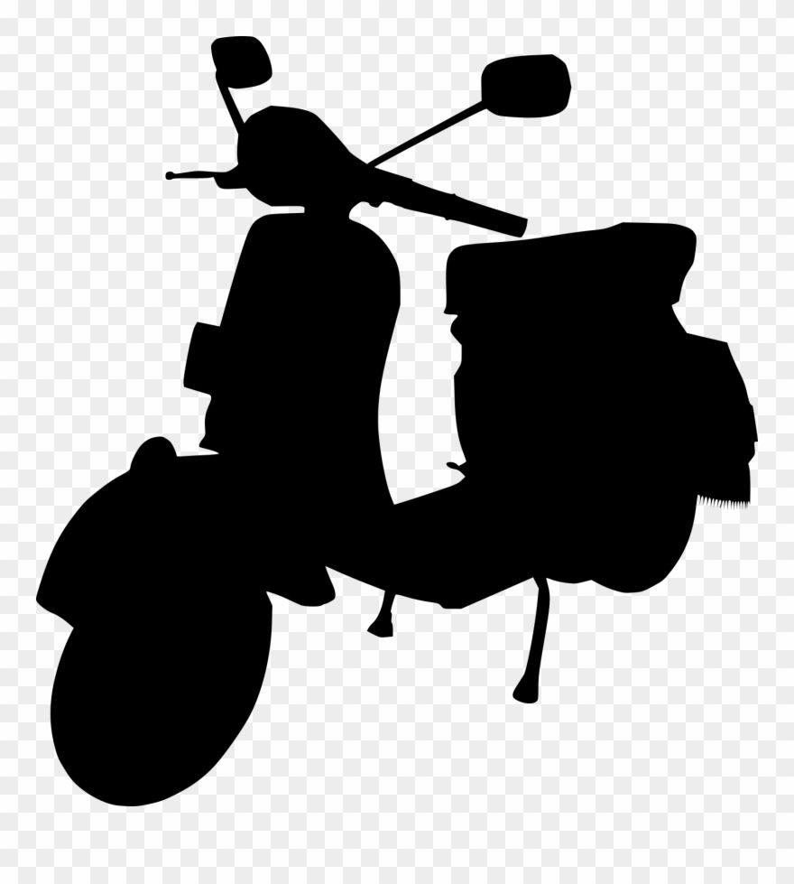 moped silhouette. Scooter clipart scotter