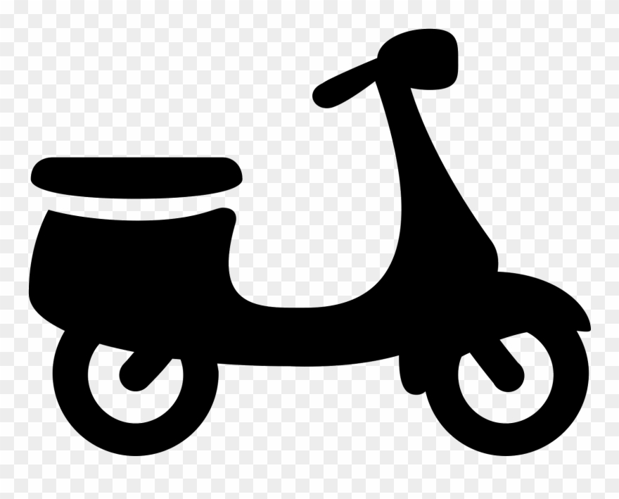 This is a motorized. Scooter clipart two wheeler