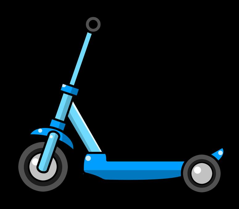 Scooter clipart vector. Hd yellow razor design