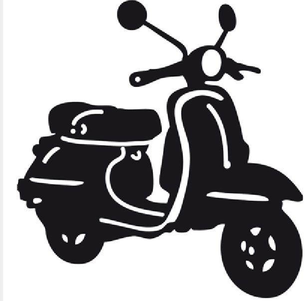 Free vespa cliparts download. Scooter clipart vector