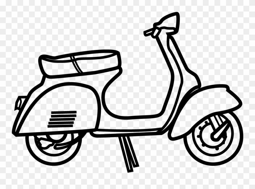 Pinclipart . Scooter clipart vespa
