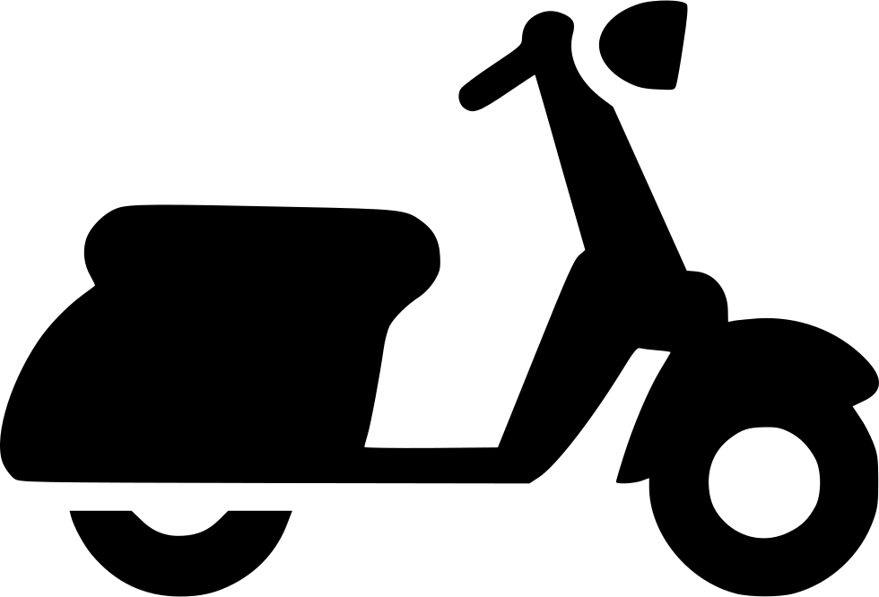 Motorbike svg png icon. Scooter clipart vespa