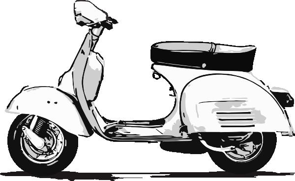 Scooter clipart vespa. Free cliparts download clip