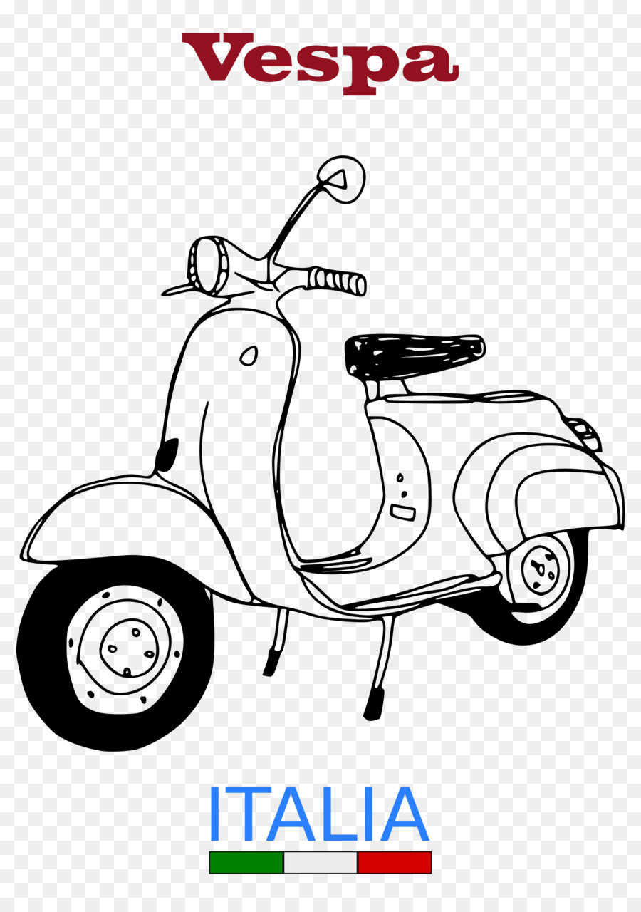 Scooter clipart vespa. White background motorcycle product