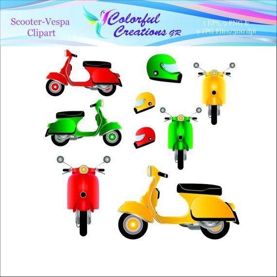 Scooter clipart vespa italian. Italy clip art travel