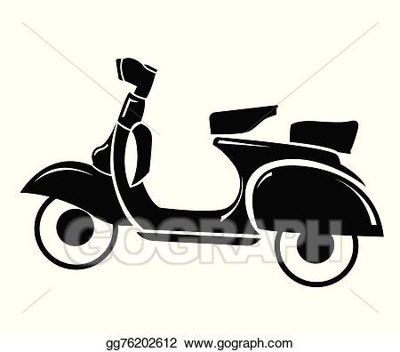 Vector stock symbol illustration. Scooter clipart vespa italian