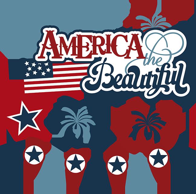 Scrapbook clipart 4th july. America the beautiful svg