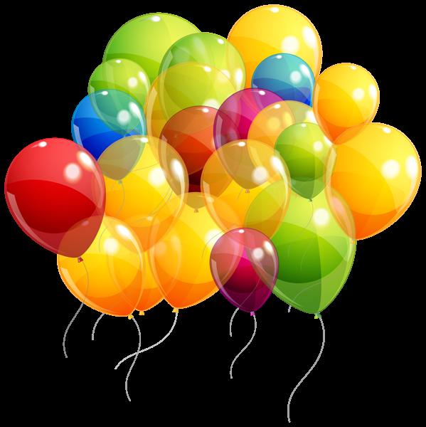 Scrapbook clipart balloon. Transparent colorful balloons bunch