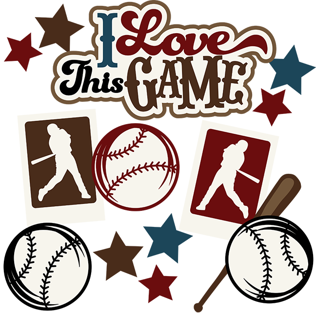 Scrapbook clipart baseball. I love this game