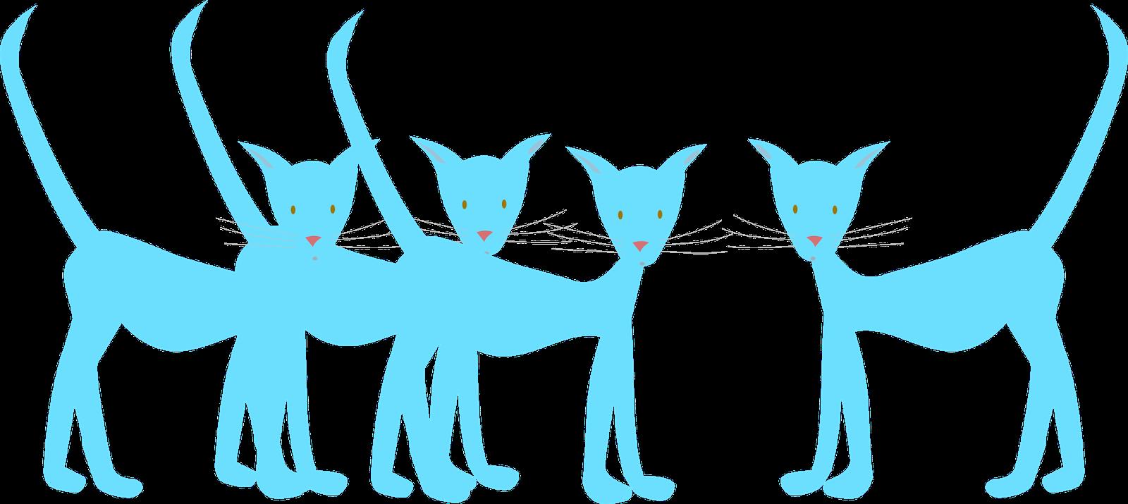 Scrapbook clipart cat. Free digital blue doodle