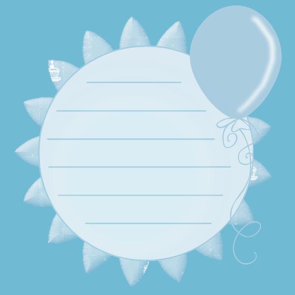 Blue balloon yeni pinterest. Scrapbook clipart circle