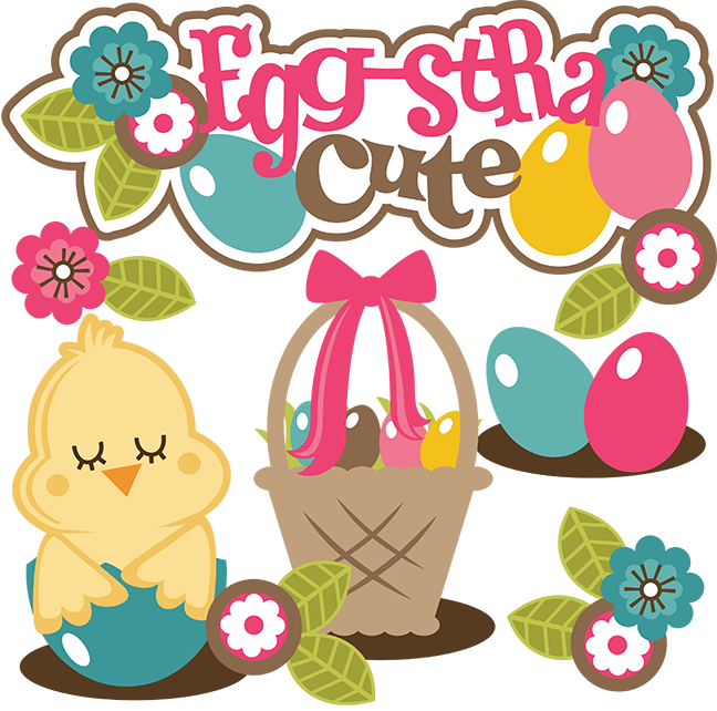 Scrapbook clipart easter. Egg stra cute svg