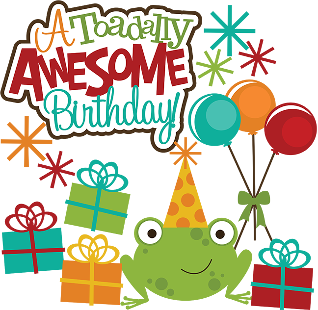 A toadlly awesome svg. Scrapbook clipart happy birthday