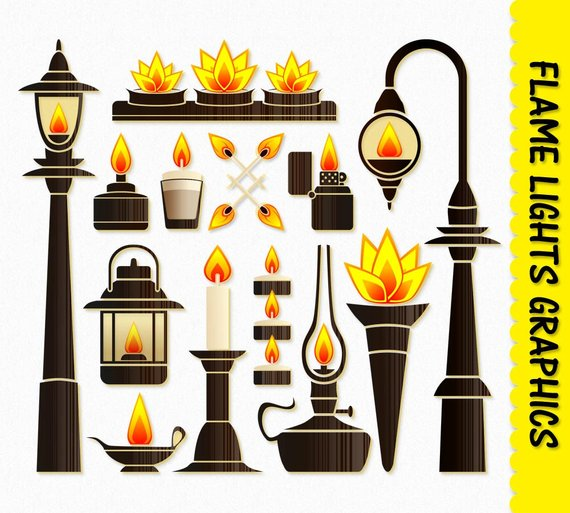 Fire flame lights clip. Torch clipart lanterns