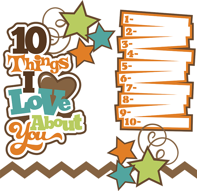 things i about. Scrapbook clipart love