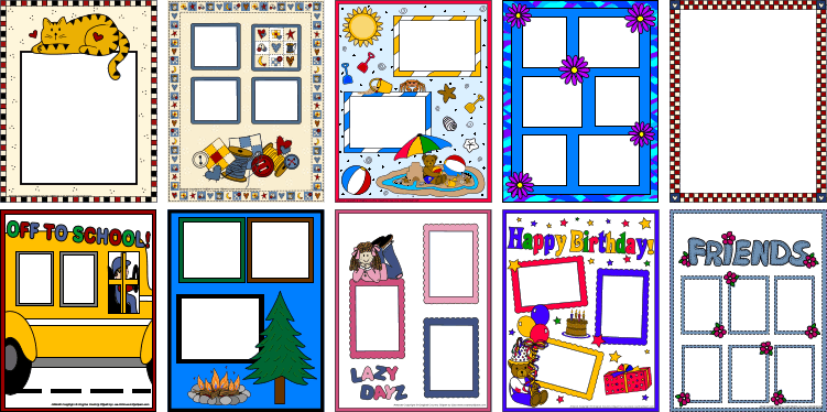 Scrapbook clipart scrapbook page. Scrapbooking photo frame pages