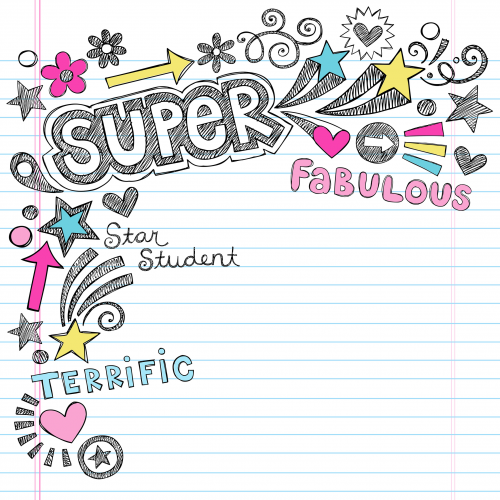 Super student background . Scrapbook clipart scrapbook page