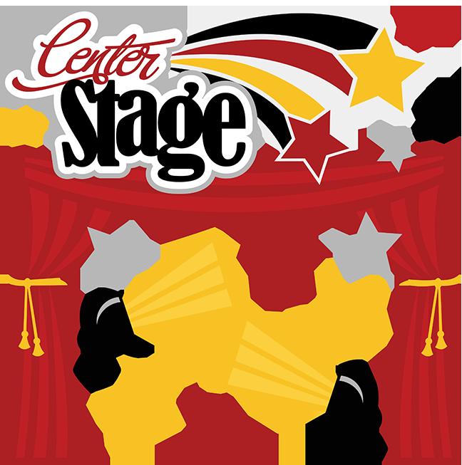 Center stage svg scrapbook. Theatre clipart actor actress