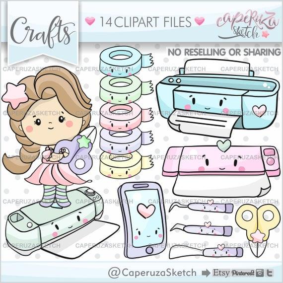 Craft planner girl commercial. Scrapbook clipart scrapbooking