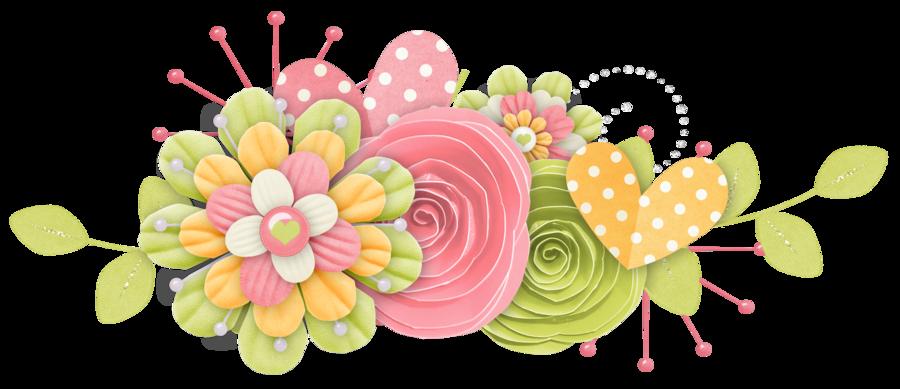 Scrapbook clipart spring. Rosimeri andrade pottyanimalgirlclusters flowers