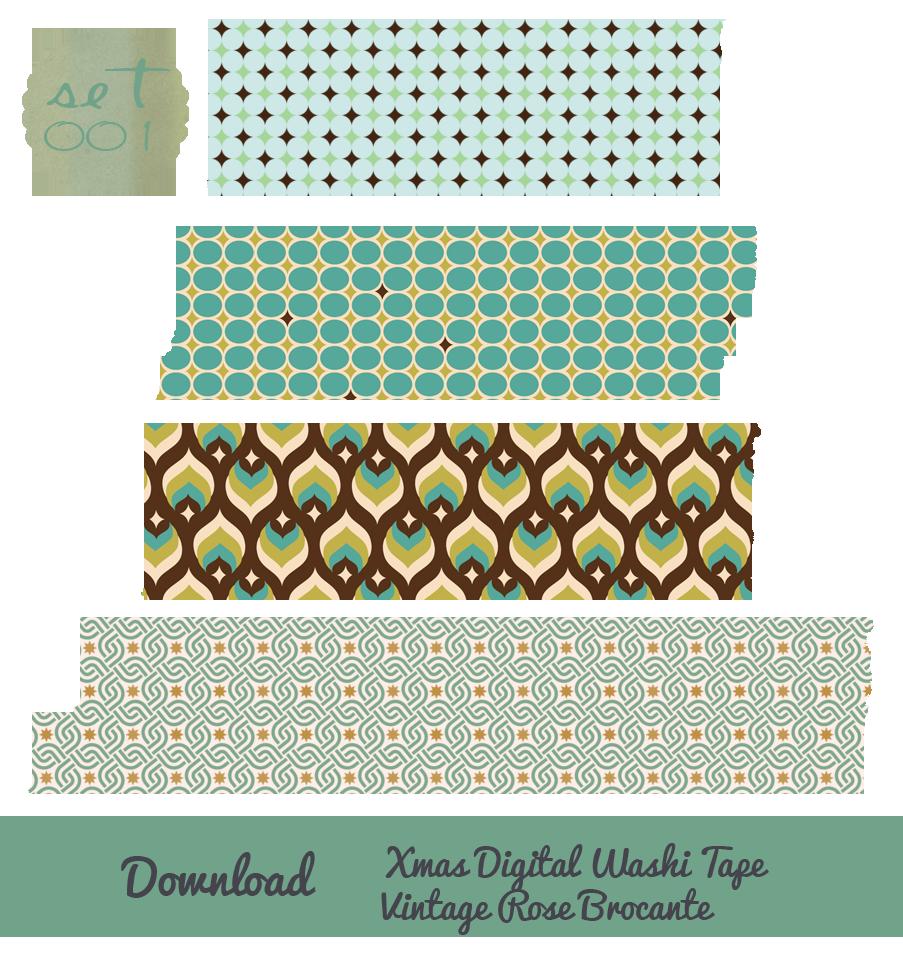 Christmas digital washi download. Scrapbook clipart tape