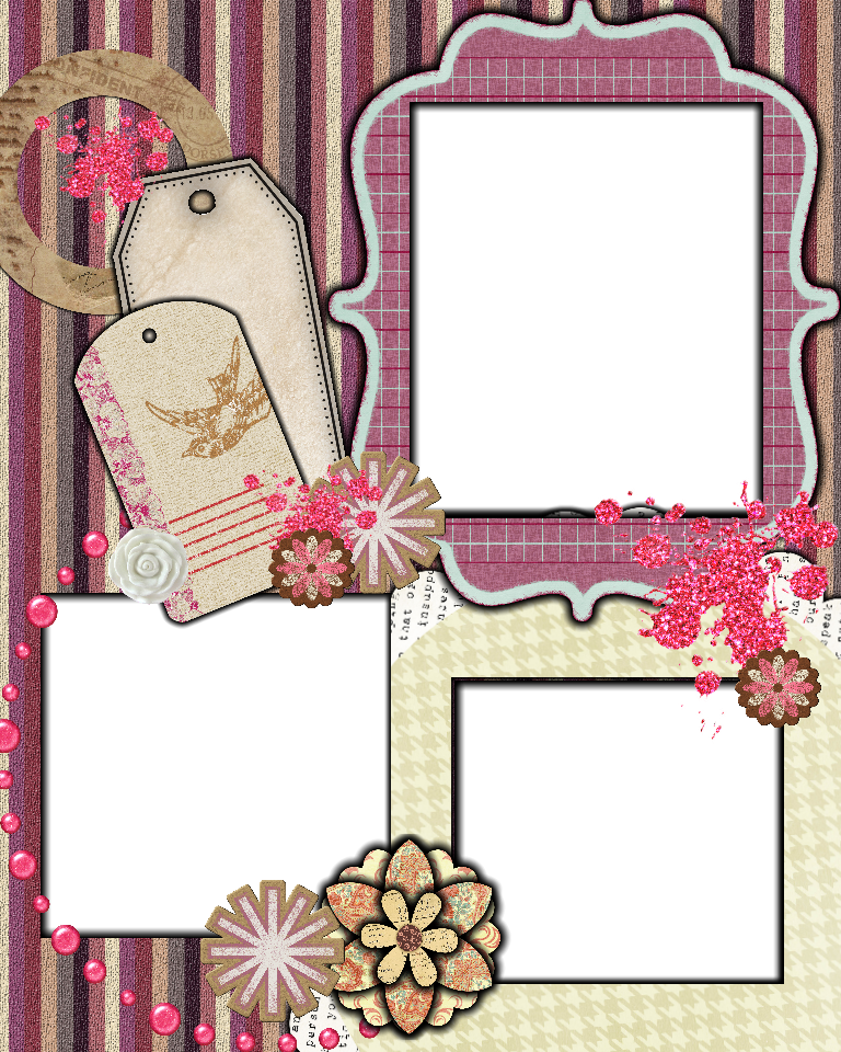 Scrapbook clipart template. Sweetly scrapped free layout
