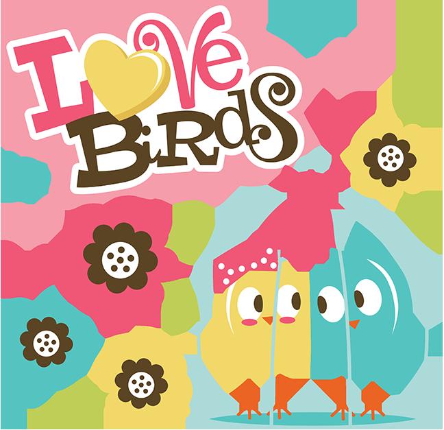 Scrapbook clipart travel. Love birds svg collection