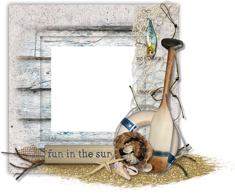 Cluster freebies sand and. Scrapbook frame png