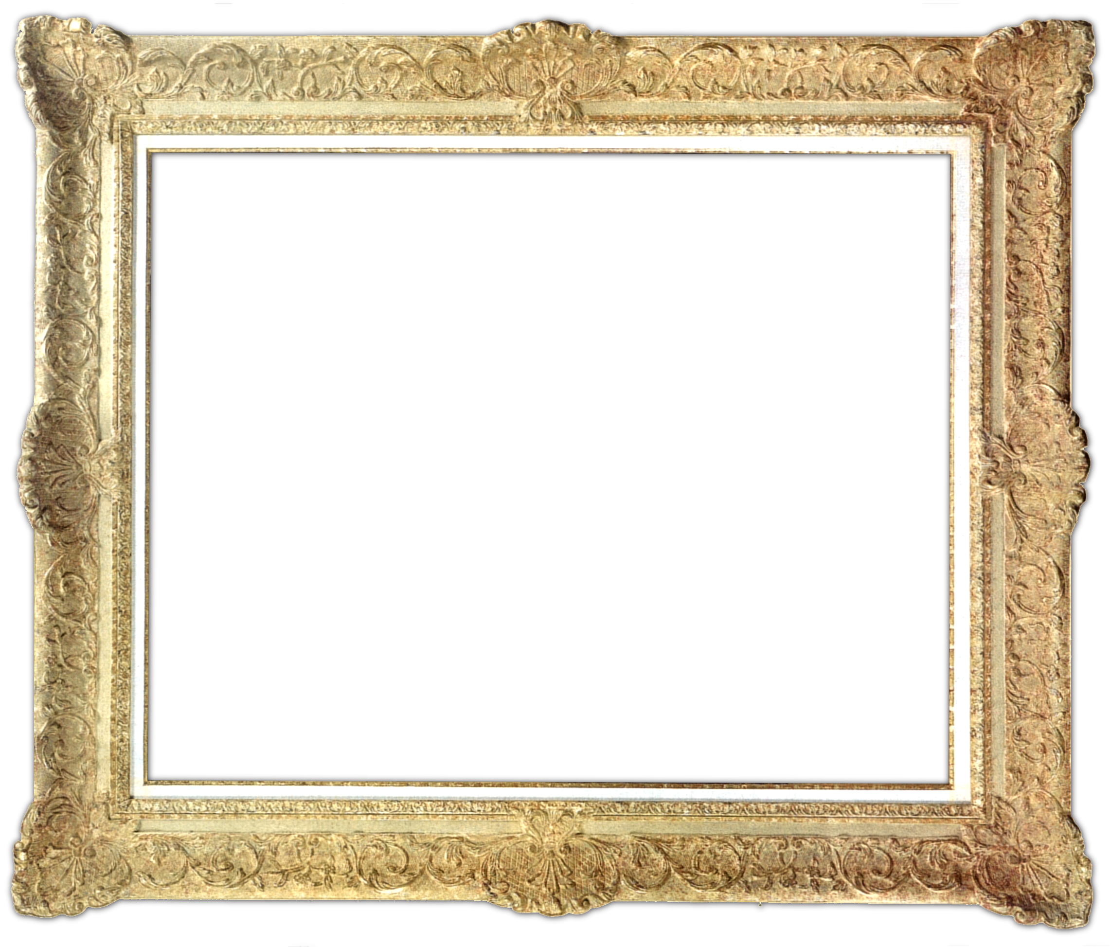 Digital scrapbooking frames gold. Scrapbook frame png