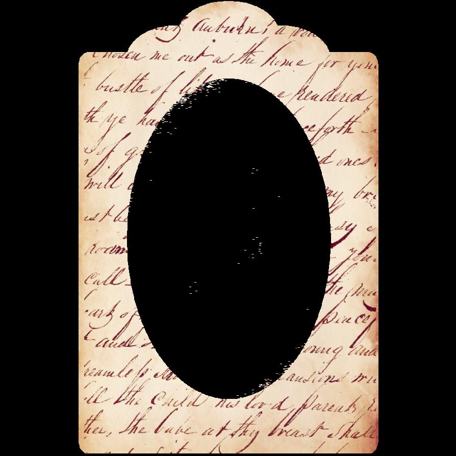 Freebie vintage handwriting by. Scrapbook frame png