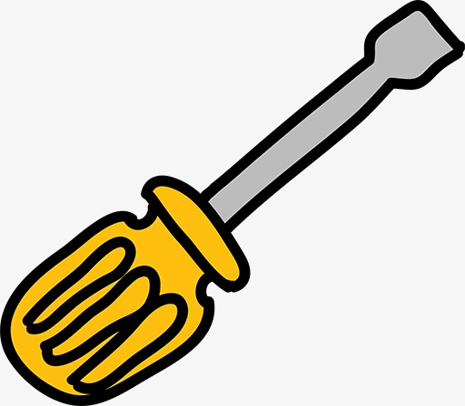 Screwdriver clipart. Cartoon hand painted png