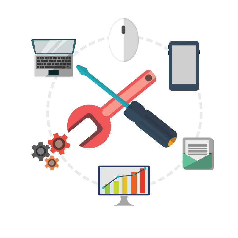 Screwdriver clipart diagram. Web design development image