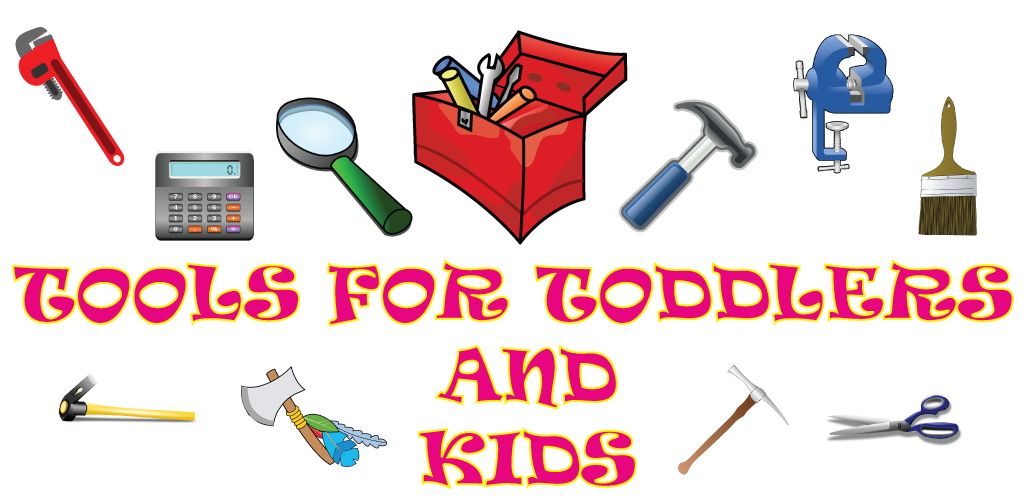 Screwdriver clipart diagram. Tools for toddlers and