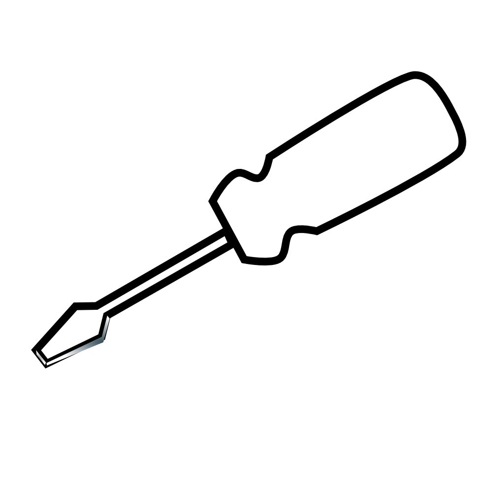 Tool clipart screw driver. Awesome of screwdriver black