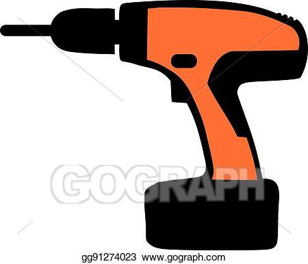 Screwdriver clipart orange. Vector stock electro clip