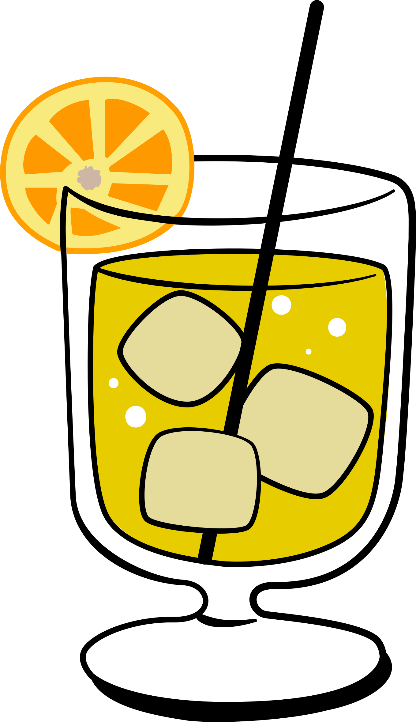 . Screwdriver clipart orange