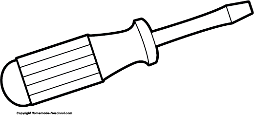 Screwdriver clipart outline. Free cliparts download clip