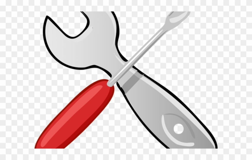 Wrench png download . Screwdriver clipart red