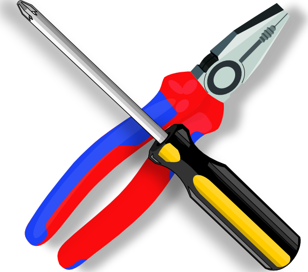 Screwdriver clipart rench. Tools clip art at