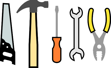 File hammer wrench pliers. Screwdriver clipart saw