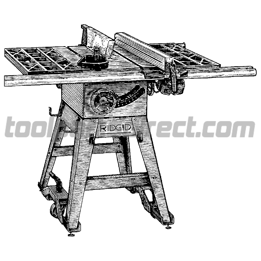Screwdriver clipart saw. Ridgid ts inch table