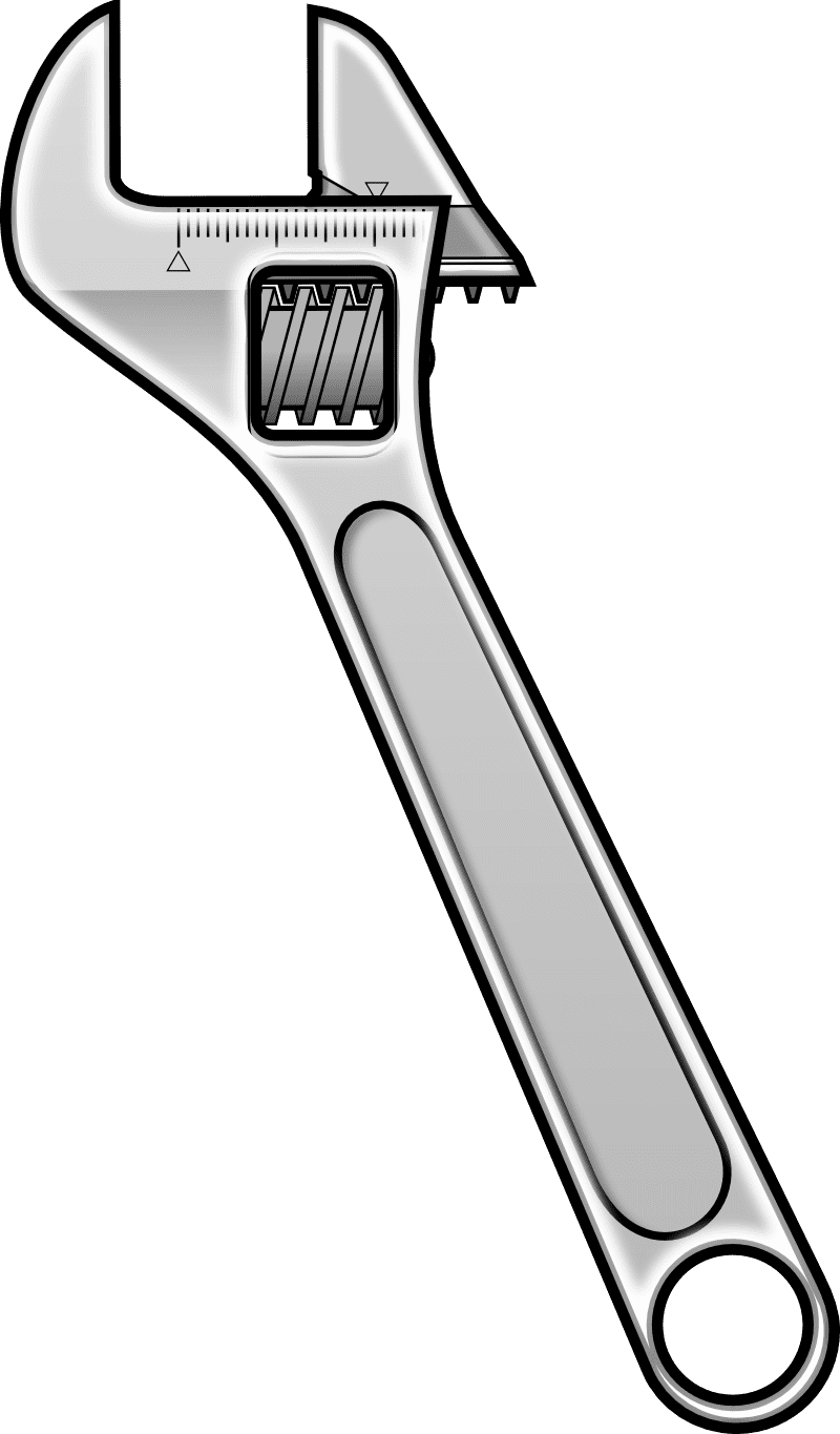 Wrench spanner png free. Screwdriver clipart spaner