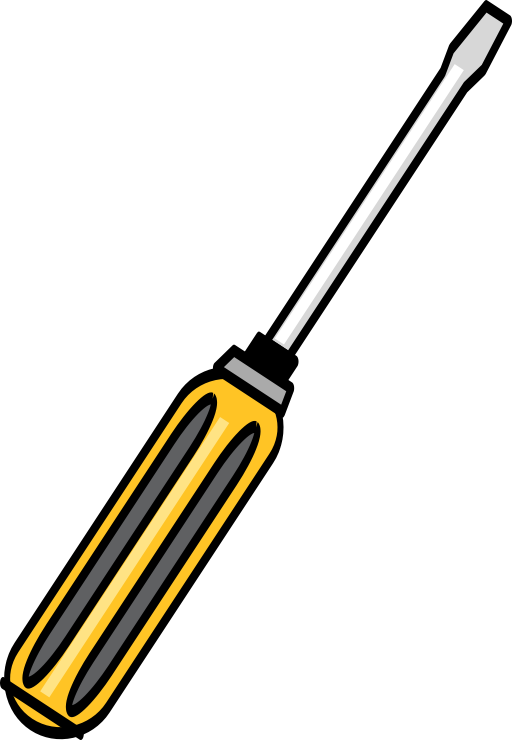 Simple i royalty free. Screwdriver clipart svg