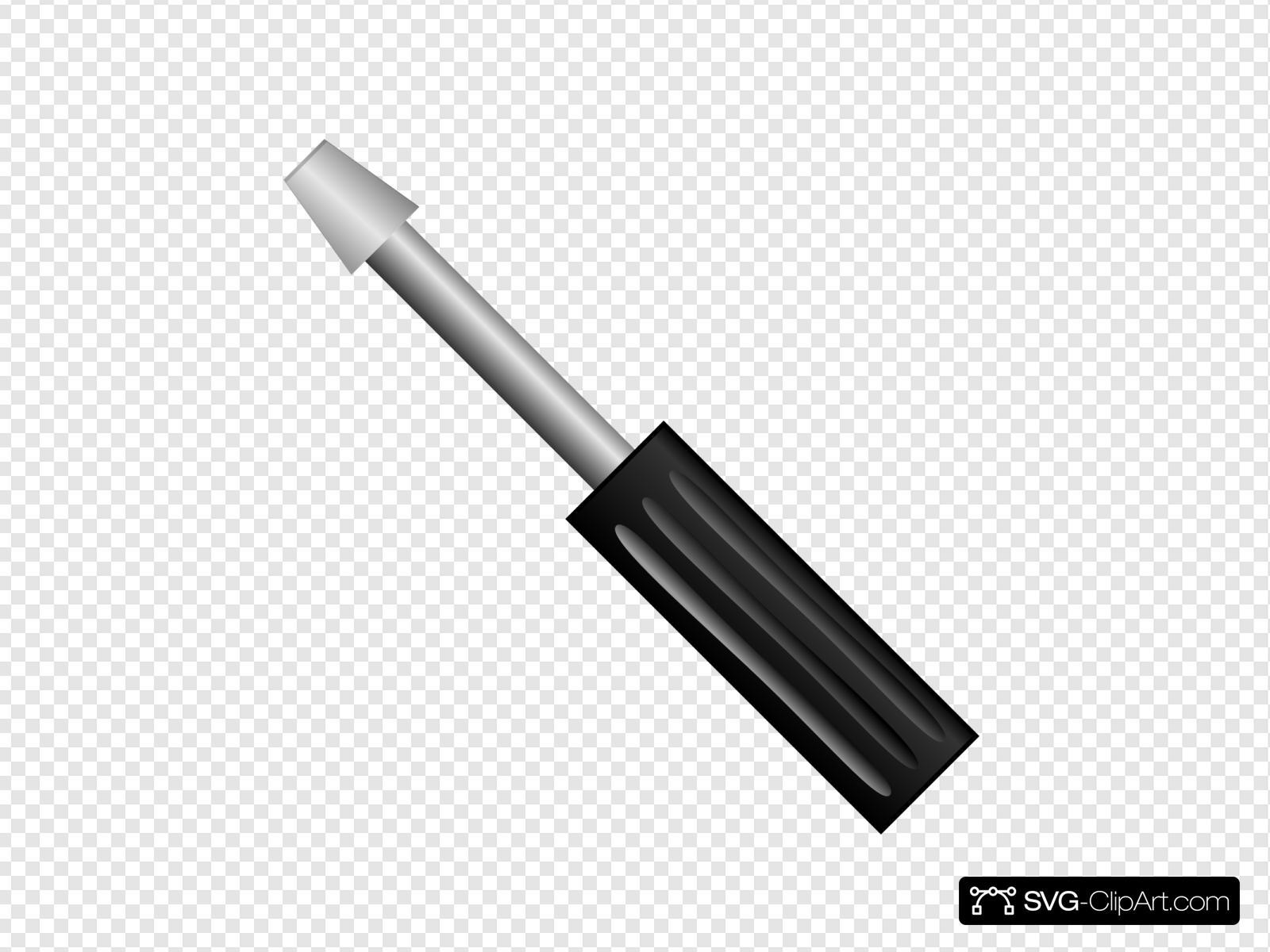 Clip art icon and. Screwdriver clipart svg