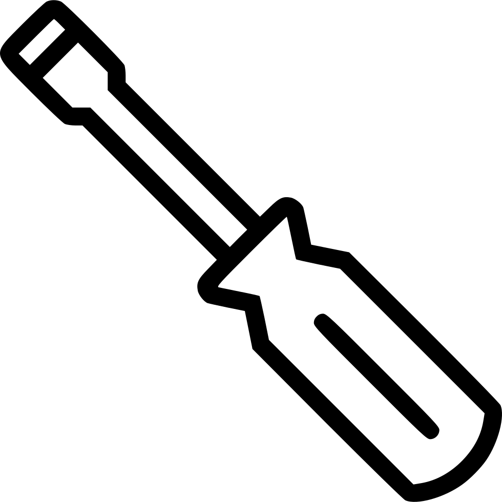 Screwdriver clipart wrench bolt. Svg png icon free
