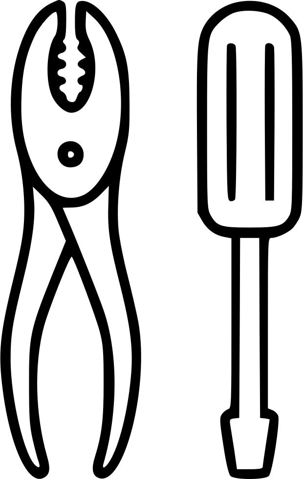 Pliers repair tools equipment. Screwdriver clipart wrench bolt