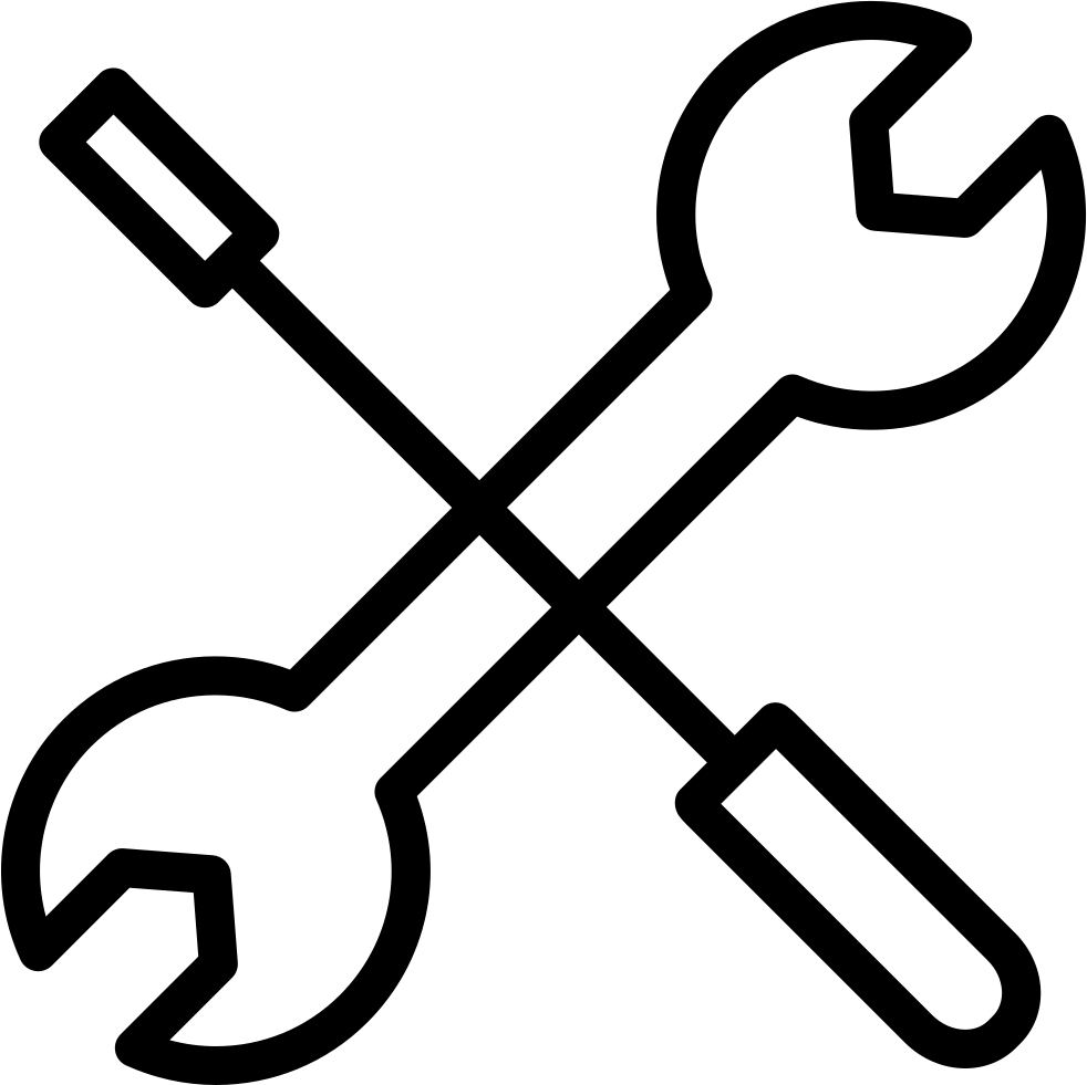 Screwdriver clipart wrench bolt. Crossed and svg png