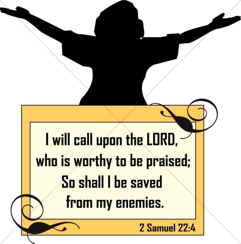 Scripture clipart. Word art praiser with